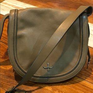 Pour La Victoire leather crossbody saddlebag purse